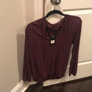 Lucky Brand Tops - Lucky brand size m medium burgundy top